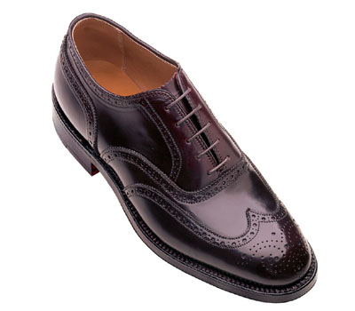 Cordovan Wing Tip Bal Oxford