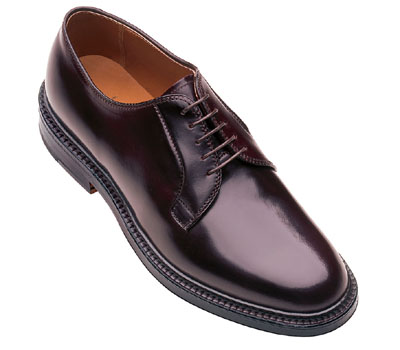 Cordovan Plain Toe Blucher Oxford